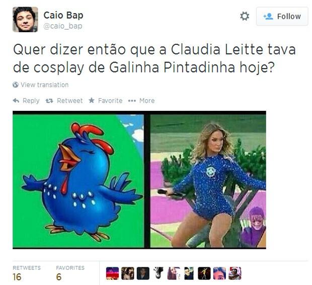 Claudia Leitte X Galinha Pintadinha (Foto: Reprodução/Twitter)