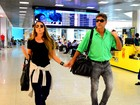 Renato Gaúcho e filha protagonizam momento fofo em aeroporto