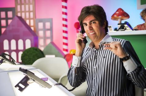 Marcelo Adnet grava como Tony Karlakian (Foto: João Miguel Jr./TV Globo)