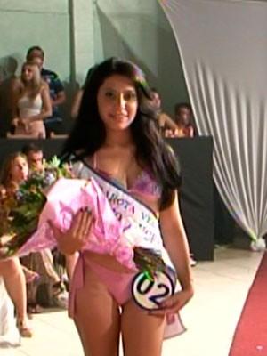 Garota Verão - representante de Porto Lucena (Foto: Reprodução/RBS TV)