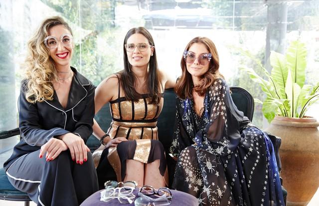 Chantal Goldfinger recebe Cássia Ávila e Camila Guebur  (Foto: Tatiana Viana e Rodrigo Caldas)
