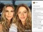 Gisele Bündchen e Ivete Sangalo trocam de rosto em brincadeira de app