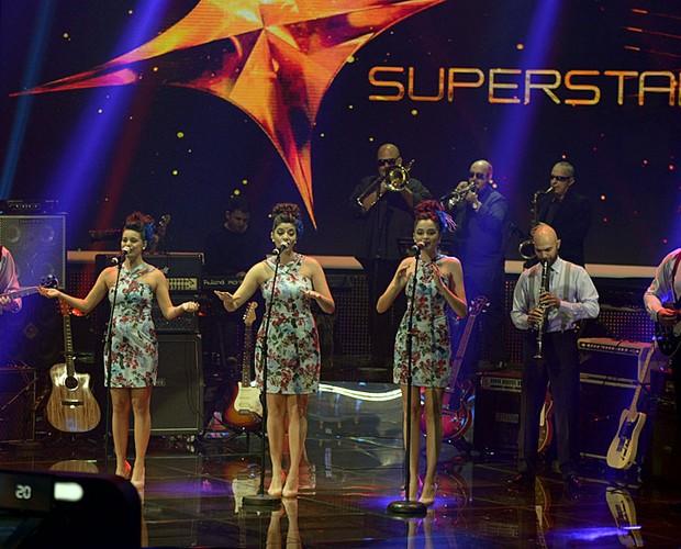 Cluster Sisters palco Top 10 (Foto: Camila Serejo/TV Globo)