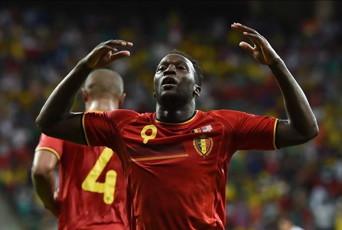 Lukaku comemora segundo gol da Bélgica contra os Estados Unidos