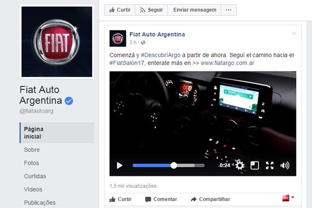 Interior do Fiat Argo é revelado (Foto: Reprodução)