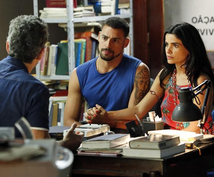 Juliano e Tóia rompem parceria com Romero (Foto: Raphael Dias/ Gshow)