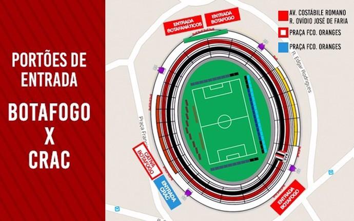 arte estádio santa cruz botafogo-sp (Foto: Arte/Ag. Botafogo)