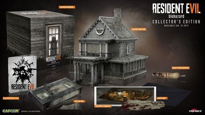 A edição de colecionador de Resident Evil 7 traz réplicas incríveis, mas estranhamente não acompanha o game (Foto: Reprodução/VG247)