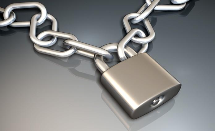 Cadeado e corrente segurança (Foto: Reprodução)