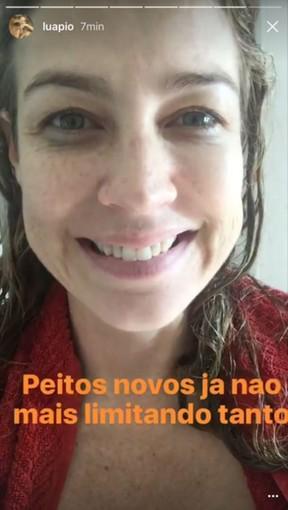 Luana Piovani (Foto: Snapchat / Reprodução)