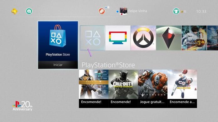 Acesse a loja online do console em busca do teste de Titanfall 2 (Foto: Reprodução/Felipe Vinha)