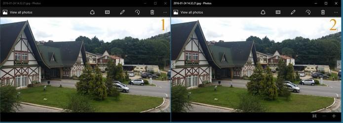 Confira o resultado da foto original (à esquerda) e reduzida (à direita) (Foto: Reprodução/Barbara Mannara)