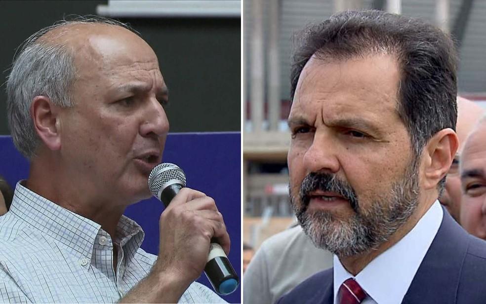 Ex-governadores do Distrito Federal, José Roberto Arruda (esquerda) e Agnelo Queirox, em imagens de arquivo (Foto: GloboNews e TV Globo/Reprodução)