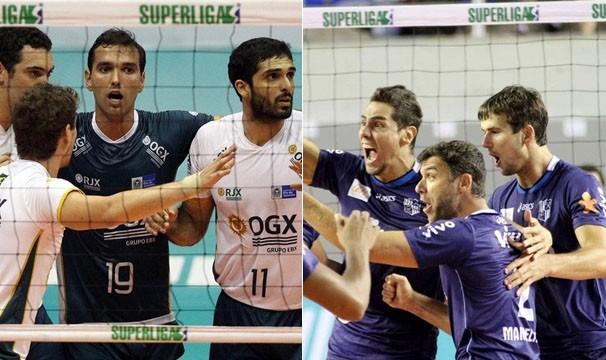 Superliga Masculina de Volei (Foto: Alexandre Arruda/CBV/Gaspar Nobrega/Inovafoto/Reprodução: Globoesporte.com)