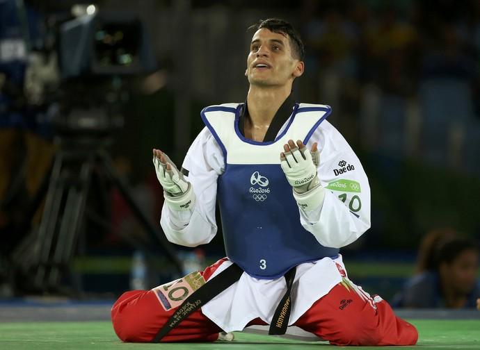 Taekwondo - Semifinal,  Ahmad Abughaush, da Jordânia (Foto: Reuters)