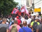 Metalúrgicos protestam em frente a subsidiária de Petrobras no Rio