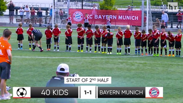 BLOG: Xabi Alonso e Vidal x 40 crianças: quem venceria? Site faz acontecer; assista