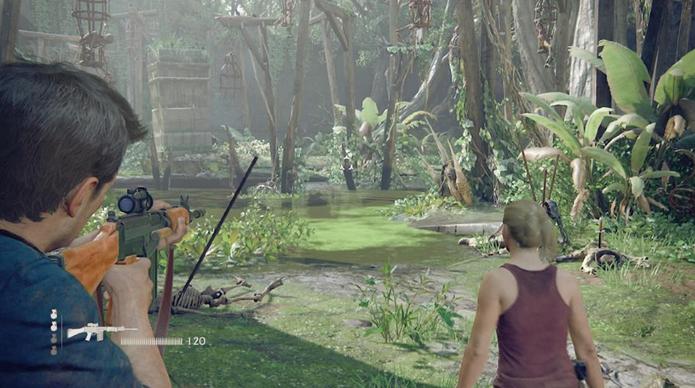 Uncharted 4 foi um dos destaques da semana (Foto: Reprodução/Felipe Vinha)