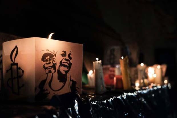 Vigília pela libertação dos presos em Angola é realizada em Lisboa, Portugal (Foto: Ricardo Rodrigues da Silva/ Amnistia Internacional Portugal)