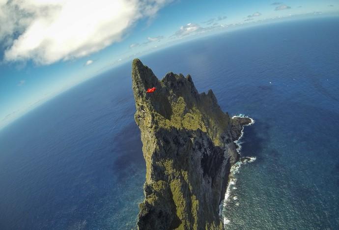 Veterano do wingsuit diz que foi a mais pura sensação que já teve (Foto: Jeb Corliss / Divulgação)