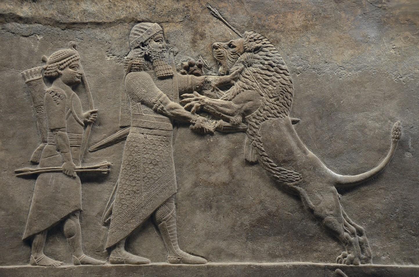 Painel da civilização assíria  (Foto: Wikimedia Commons)