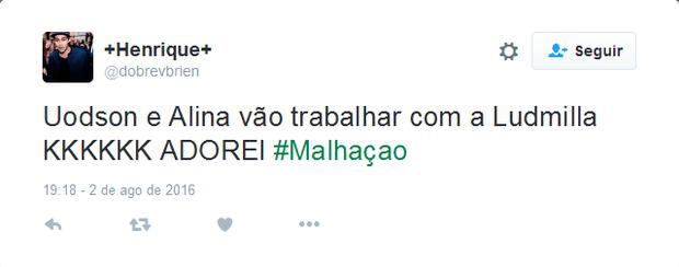 Ludmilla participa de Malhação e recebe elogios no Twitter (Foto: Reprodução/Twitter)