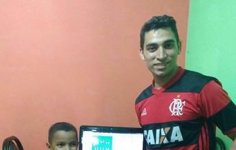 Flamengo fanático, goiano conquista Cartola PRO de julho com ajuda mirim