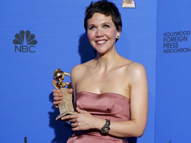 Maggie Gyllenhaal venceu o Globo de Ouro de melhor atriz em minissérie ou filme para a TV. (Foto: REUTERS/Mike Blake)