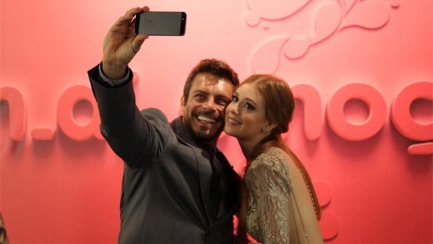 Luigi Barricelli e Marina Rui Barbosa foram os convidados especiais do vem_aí da RPC TV (Foto: Carol Pellegrini/RPC TV)