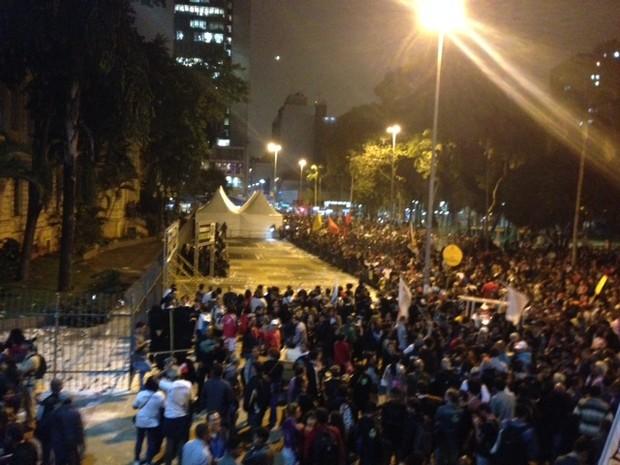 Professores Praça da República Centro São Paulo (Foto: Roney Domingos/G1)