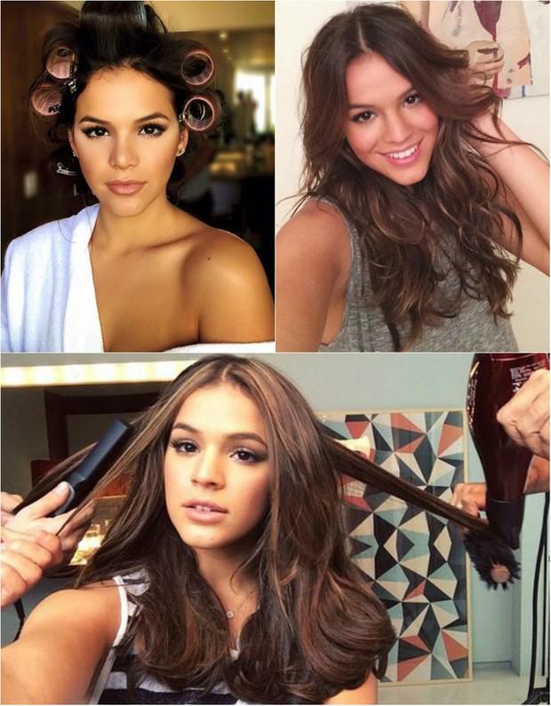 Bruna Marquezine fala sobre os cabelos: Eu gosto de cortar o cabelo na lua cheia porque eu tenho pouco cabelo. E na lua crescente às vezes para dar uma acelerada no comprimento (Foto: Reprodução do Instagram)