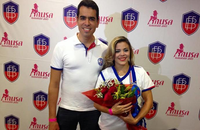 Carla Havashy, musa do Bahia (Foto: Divulgação / EC Bahia)