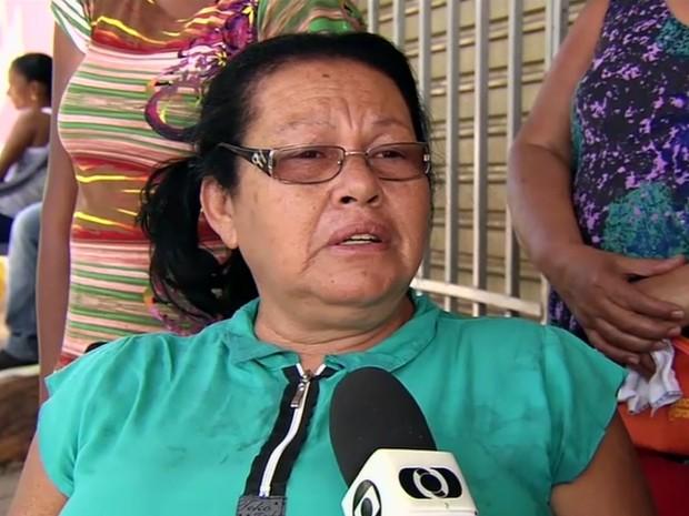 Mãe de mulher morta pelo companheiro em Senador Canedo cobre puniçõa para o criminoso, em Goiás (Foto: Reprodução/TV Anhanguera)