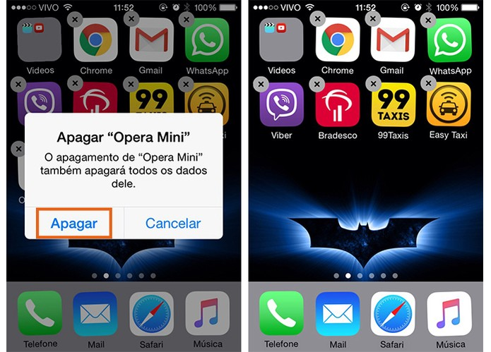 Apague o app do Opera Mini no iPhone (Foto: Reprodução/Barbara Mannara)