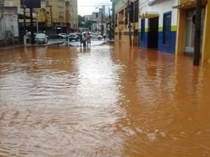Várias ruas ficaram alagadas em Itatiba (Foto: Arquivo Pessoal)