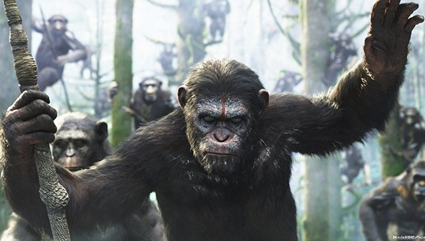 Planeta Dos Macacos o Confronto Wallpaper Cena de 'planeta Dos Macacos