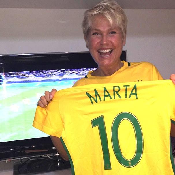 Xuxa é fã de Marta (Foto: Reprodução/Instagram)