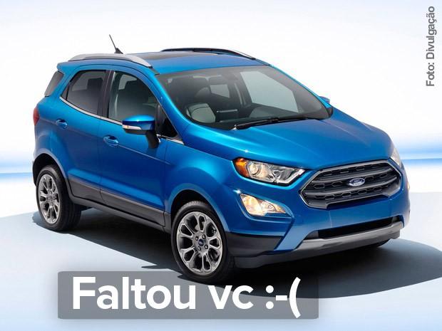 Ford EcoSport reestilizado ficou fora do Salão de SP 2016 (Foto: Divulgação)