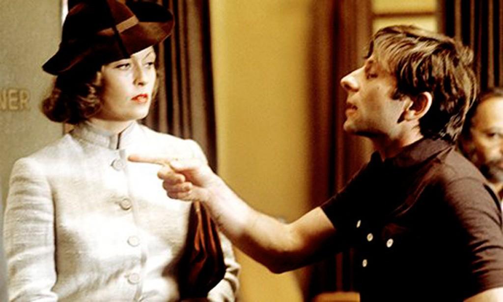 Faye Dunaway e Roman Polanski em 'Chinatown' (1974) (Foto: Reprodução / Making Of)