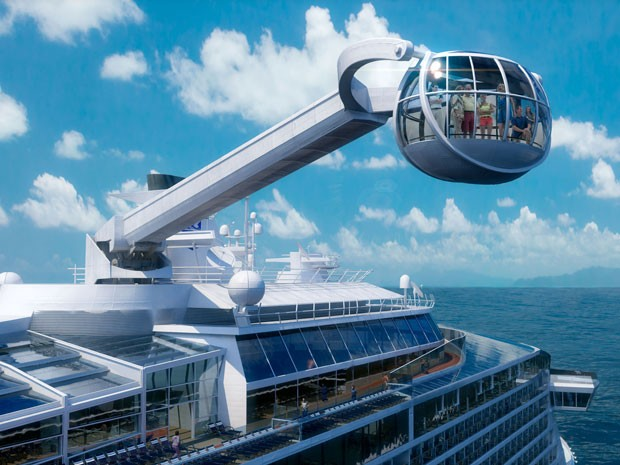 "Perspectiva artística do navio Quantum of the Seas, da Royal Caribbean; ""estrela do norte"" (Foto: Divulgação/Royal Caribbean)"