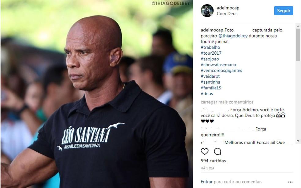Capitão da reserva da Polícia Militar é segurança do cantor Léo Santana (Foto: Reprodução/Redes Sociais)