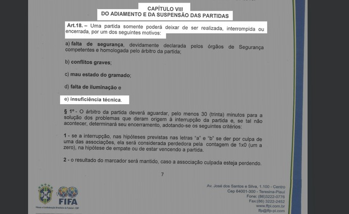 Regulamento do Piauiense 2017 (Foto: Reprodução/FFP)