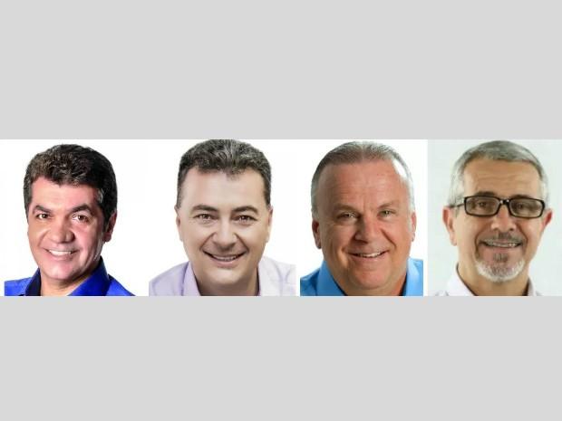 Candidatos a prefeito de Criciúma (Foto: Montagem/G1)