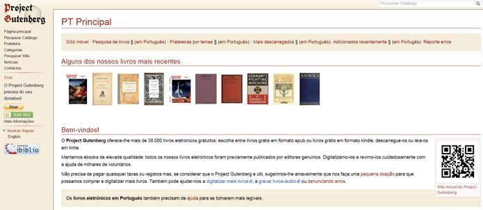 Projeto Gutenberg tem um conjunto muito interessante de livros atualizados constantemente (Foto: Reprodução/Filipe Garrett)
