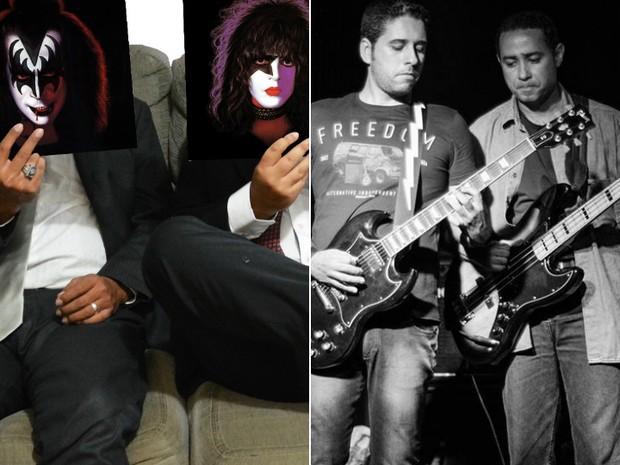 Bandas homenageiam os grupos Kiss e Rush, em show na sexta-feira (26) (Foto: Arte/G1 Bahia)