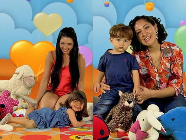 Geisiane, mãe da Lizz, e Jaqueline, mãe do Derick, estão na final do Game de Bebês (Foto: Mais Você / TV Globo)
