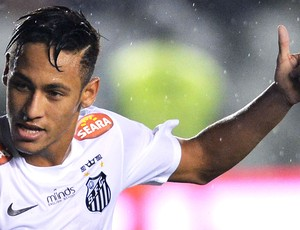 Neymar jogo Santos Joinville (Foto: AFP)