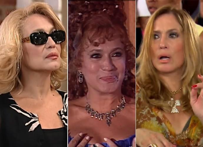 Susana Vieira com diferentes visuais na carreira (Foto: Vídeo Show / TV Globo)