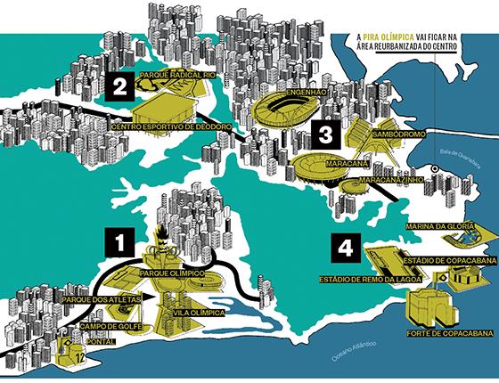 Competições por toda a cidade (Foto: Ilustração: Espaço Ilusório)