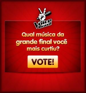 Qual música da final você mais gostou? (Tv Globo/ The Voice)